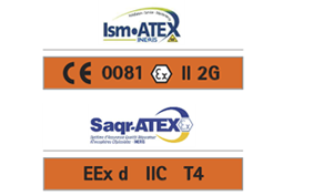 ISM-ATEX AND SAQR-ATEX CERTIFICATIONS